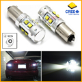 2pcs High Power 50W Extreme Bright 10-CRE E XB-D H21W BAY9s 120 degress LED Bulbs For Car Parking Light,Backup Reversing Bulb
