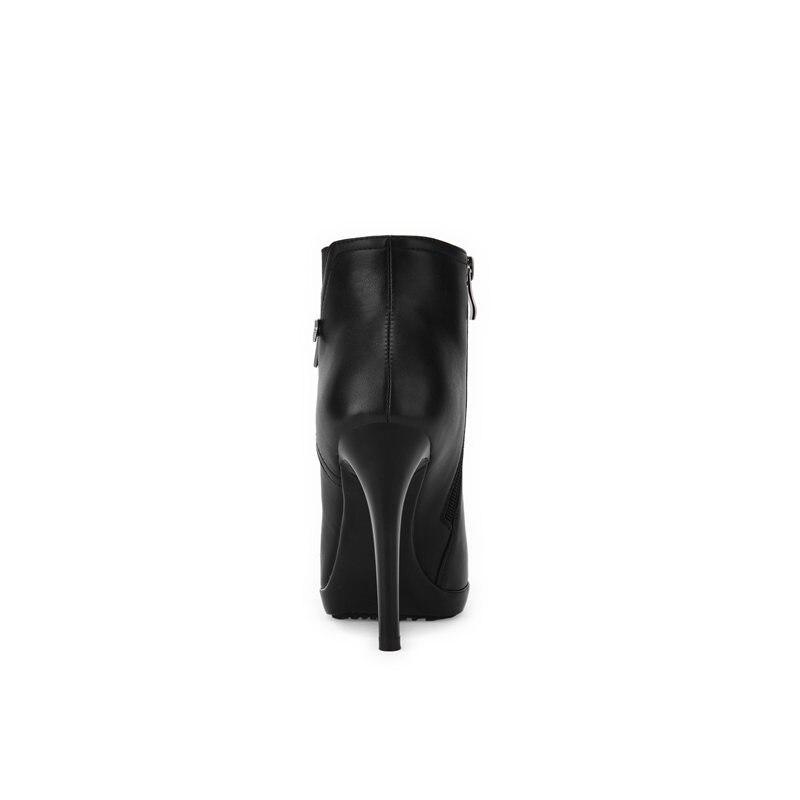 Negro Tobillo Punta Otoño Memunia Moda Botas Extrema 2018 Invierno Tacones Mujer Nuevo Altos De Stiletto Estrecha qxA4EwZx