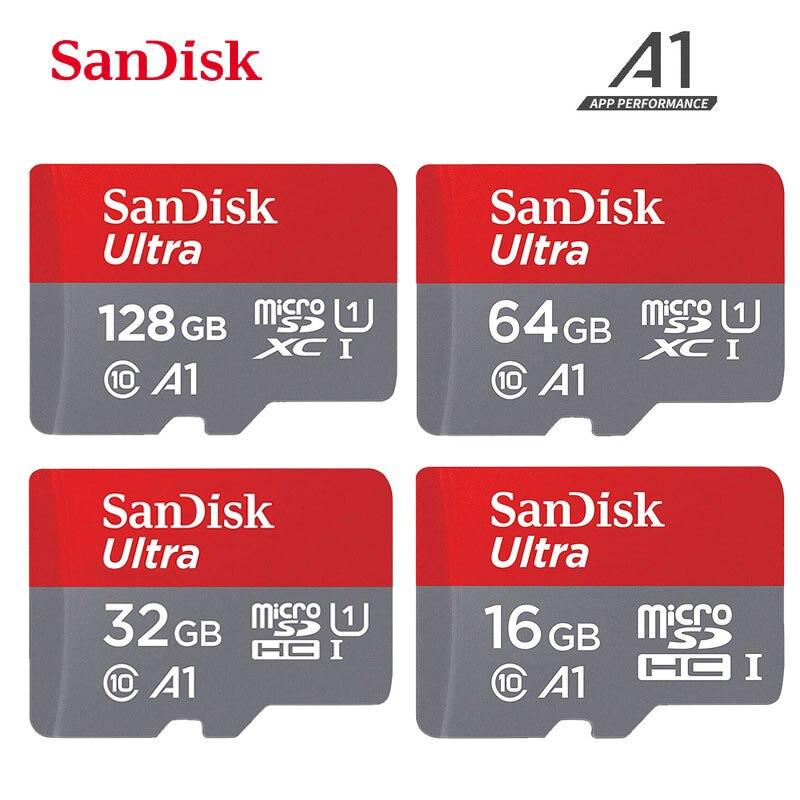 100% Original Sandisk sd micro tarjeta Class10 tarjeta TF 16gb 32gb 64gb 128gb de tarjeta de memoria 200gb 256GB tarjeta sd micro óptico para samrtphone XGODY K20 Pro 4G Smartphone Dual SIM 5,5