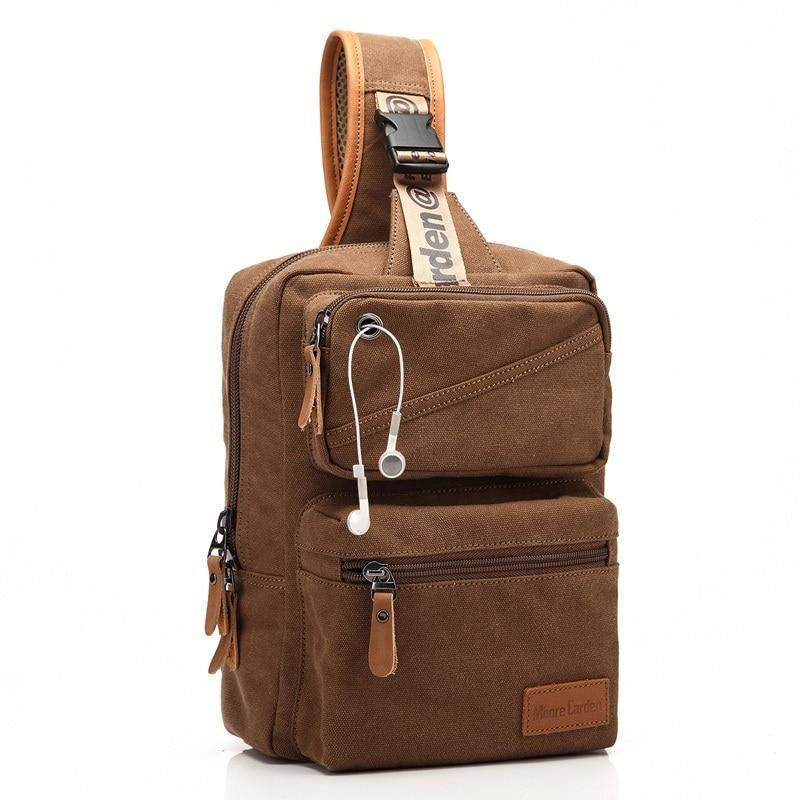 74c112936392 New Backpack Men Europe Design Student Men s Travel Rugzak Bag Canvas  Backpack Women Chest One Shoulder