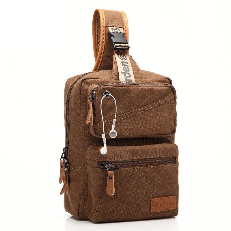 Bagaj ve Çantalar'ten Sırt Çantaları'de Yeni sırt çantası erkekler avrupa tasarım öğrenci erkek seyahat Rugzak çanta keten sırt çantası kadın göğüs bir omuz çapraz vücut çanta Bolsos title=