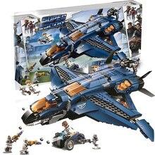 Мстители 4 Endgame Avengerss Ultimate Quinjet набор совместимых 76126 строительных блоков Кирпичи игрушки для мальчиков
