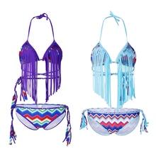 New Purple Beachwear Sexy 2 Piece Set Women Tassel Crop Top And Summer Slim Shorts Beach Outfits Two Piece Tracksuit 2019 цены