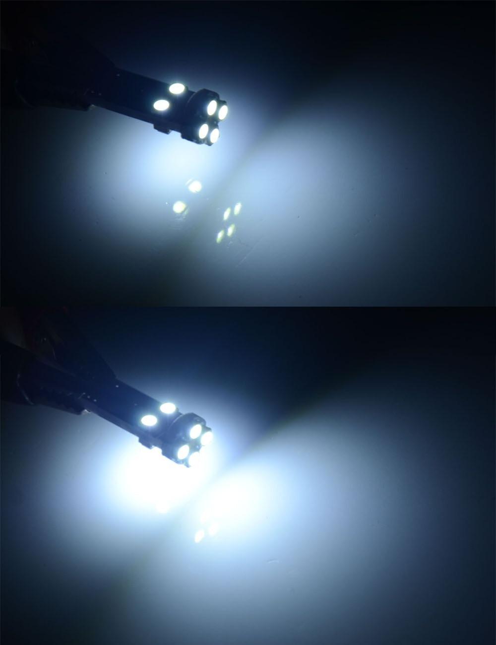 AutoEC 100x Automobile lamps T10 led canbus error free 8 smd 1210 ...