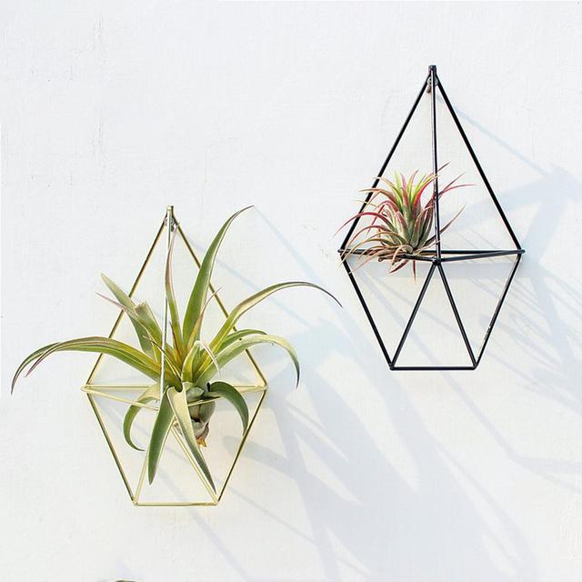 Geometric Plant Hanger Flower Pot Plant Holder Flower Stand Metal