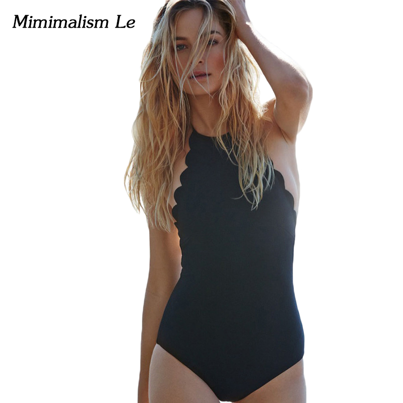 Minimalism Le One Piece Swimsuit 2017 New Women Swimwear Sexy Bandage Backless Striped High Neck Beach Wear Bathing Suits BK580 new sexy high cut backless bandage one piece swimsuit with skirt high neck patchwork swimwear striped blue beach bathing suits