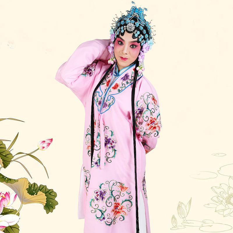 Chinese Traditional Opera Female Role Clothes Ancient Stage Performance Clothing Vintage Floral Robe Gown Cosplay Costume