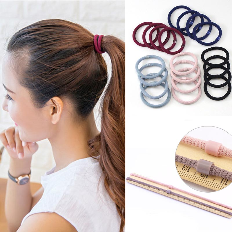 10pcs/lot 5CM Hair Accessories Women Rubber Bands Scrunchy Elastic Hair Bands Girls Headband Decorations Ties Gum For Hair
