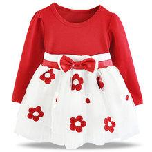 96e83ad7774a31 Pasgeboren Meisje Mijn 1st Verjaardag Jurken Jurk Voor Baby Meisje Winter  Nieuwe Merk Party Gown Bloemen Baby Kids Kostuum vesti.
