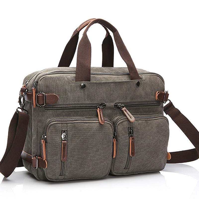 Canvas Mens Handbags Bolso Hombre Business Men Briefcase Casual Laptop Computer Bag Men Crossbody Shoulder Bag Big Small Size
