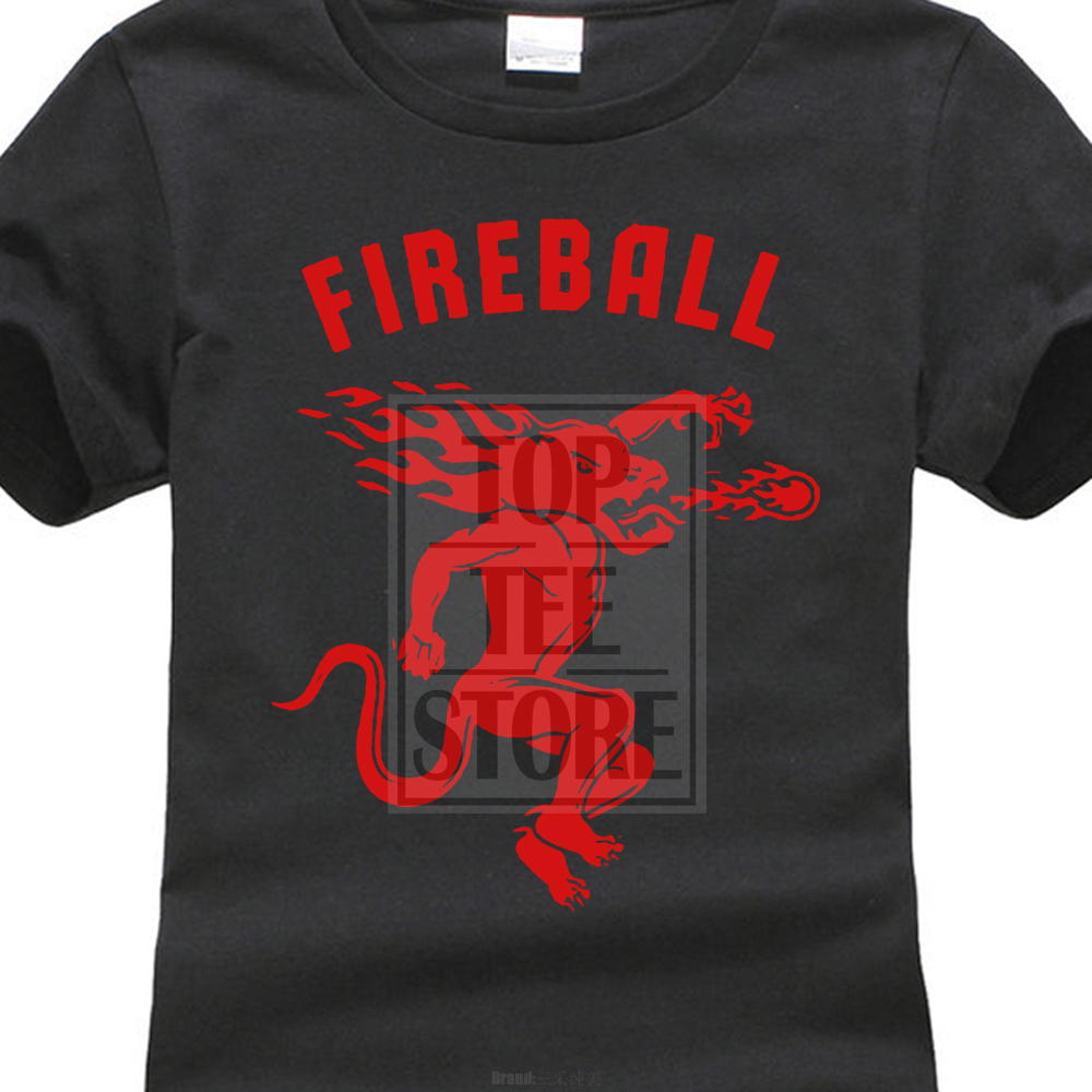 Cotton Cool Design 3D Tee Shirts Premium Crew Neck Short Sleeve Rosar WomenS Fireball Cinnamon Whisky O Neck Short Sleeve