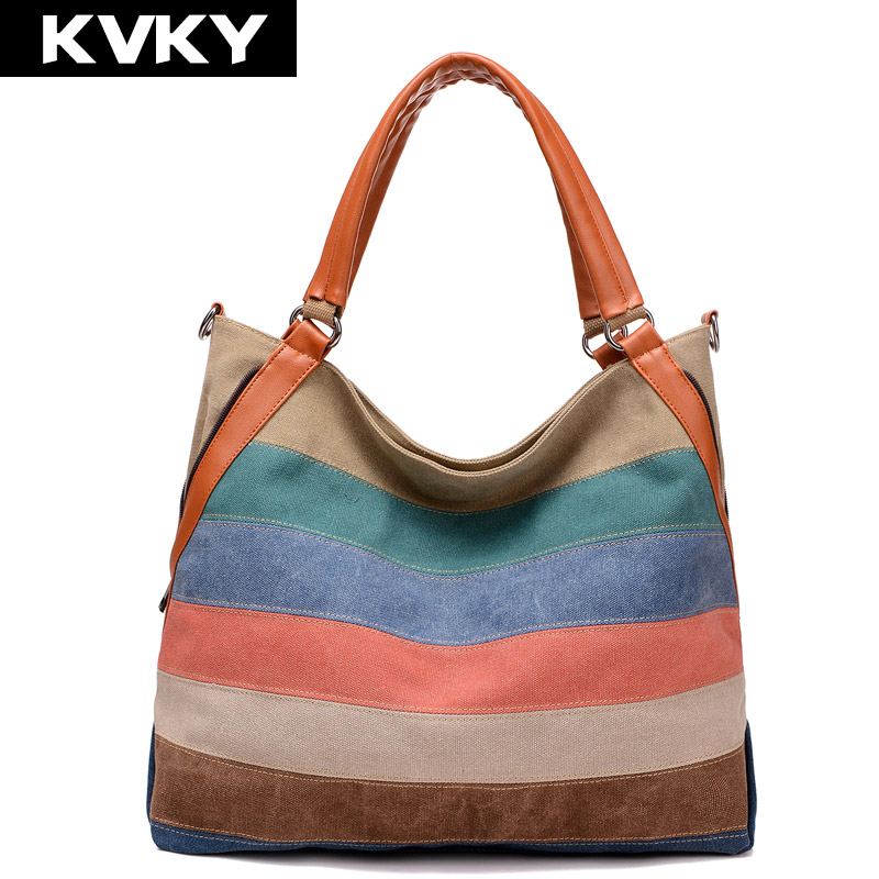 KVKY woman messenger bags fashion designer handbags high quality ladies canvas patchwork Casual Shopping Shoulder crossbody Bag liligirl baby girls sport clothes sets for toddler cotton print mickey t shirt polka dot pants suit kids tops trousers cloting