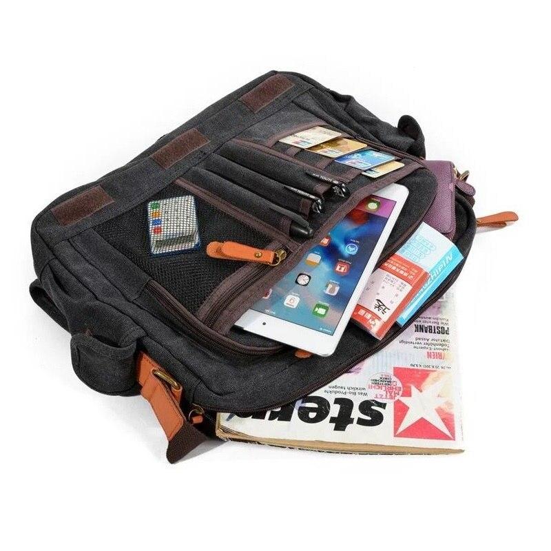 Bolsa Multifunction Messenger-Bags Satchel Crossbody-Bag Canvas Male Casual Men Laptop