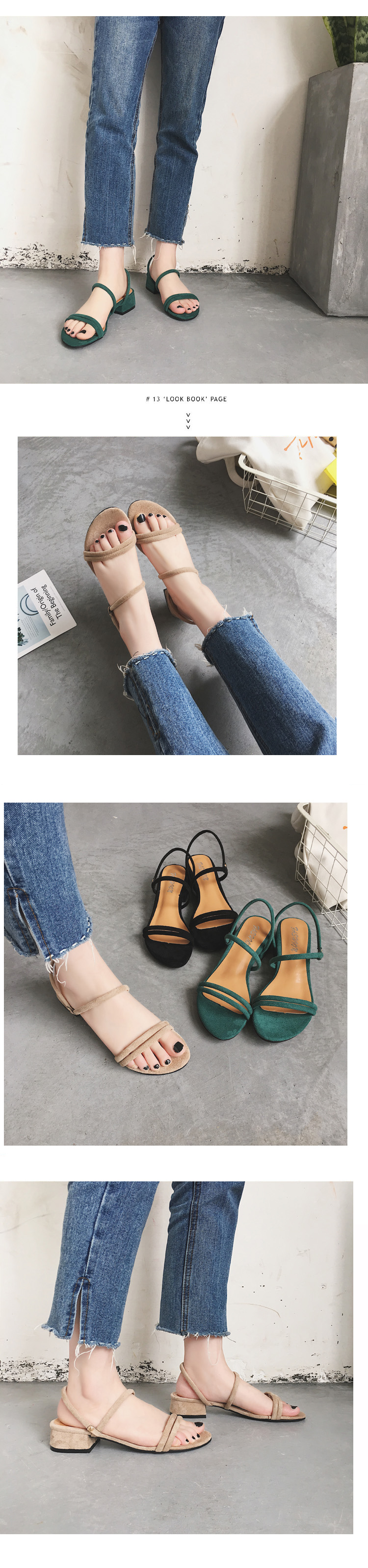 HTB1f7BcOMHqK1RjSZJnq6zNLpXaB new Flat outdoor slippers Sandals foot ring straps Roman sandals low slope with women's shoes low heel shoes Sandals mujer