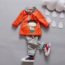 YiErYing Baby Clothing Sets Fashion Summer 2Pcs Cotton Long Sleeve+Pant Suits For Girls Boys Kid Children Clothes