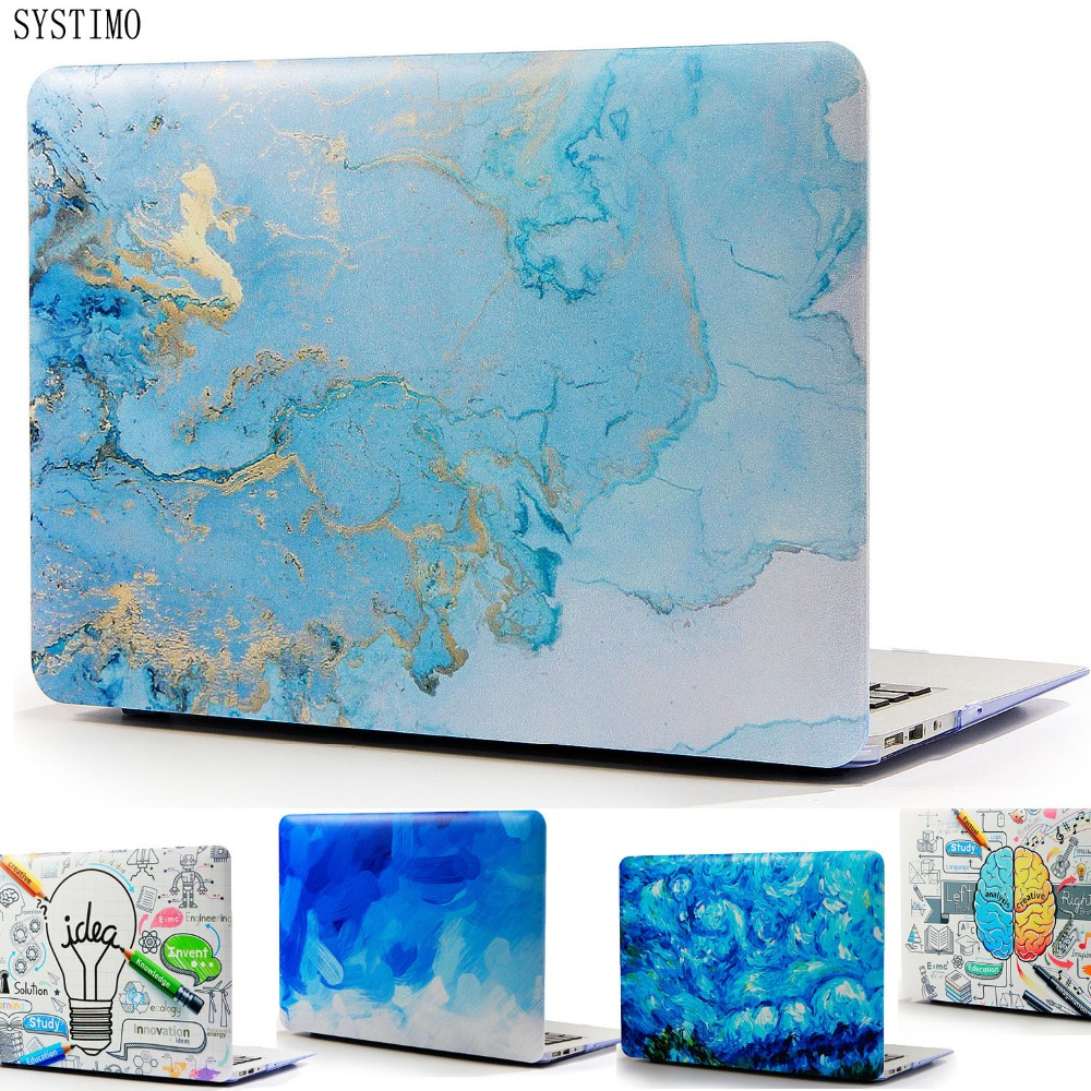 SYSTIMO Beautiful Flower Map Laptop Case for Apple Macbook Air Pro Retina 11 12 13 15 for New Mac book Air 13 with Touch Bar