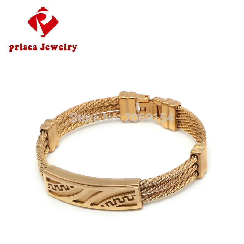 Aliexpress Mens Gold Charm Bracelet Fashion Jewelry Clic Stainless Wristband Alloy Material Anium Steel Bangle Finest From