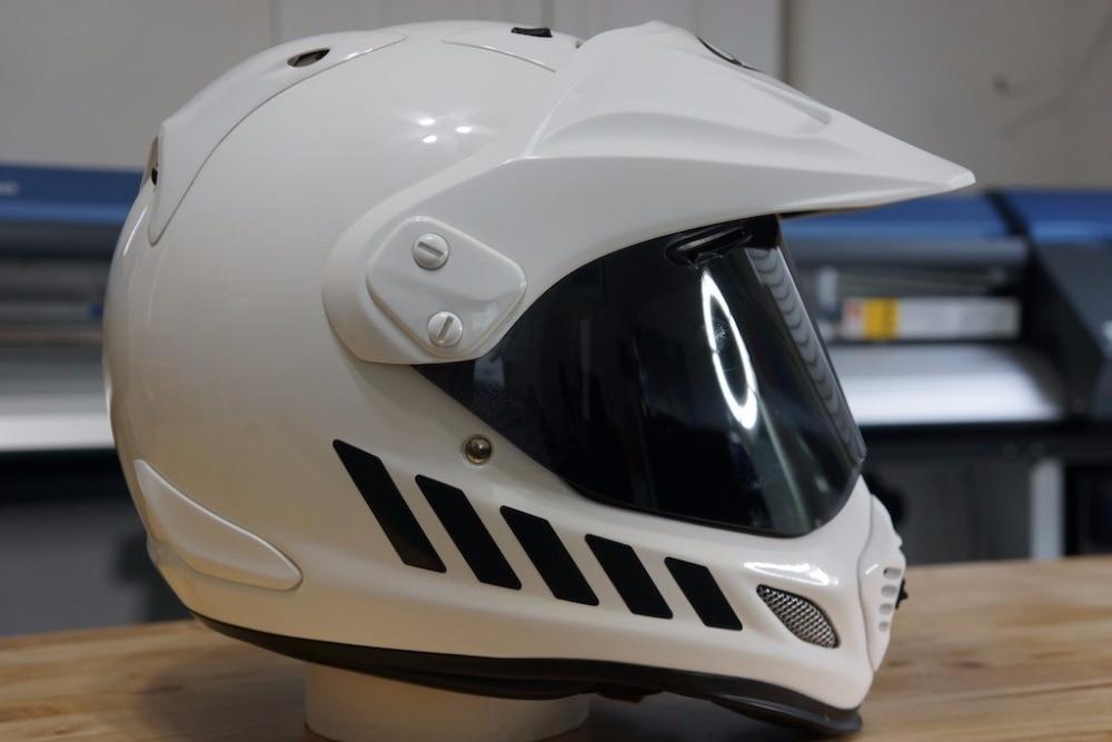②Reflexivo Seguridad Decal kit para Arai xd4 casco de la ...