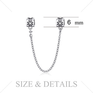 Image 4 - JewelryPalace Safety Chain 925 Sterling Silver Beads Charms Silver 925 Original For Bracelet Silver 925 original Jewelry Making