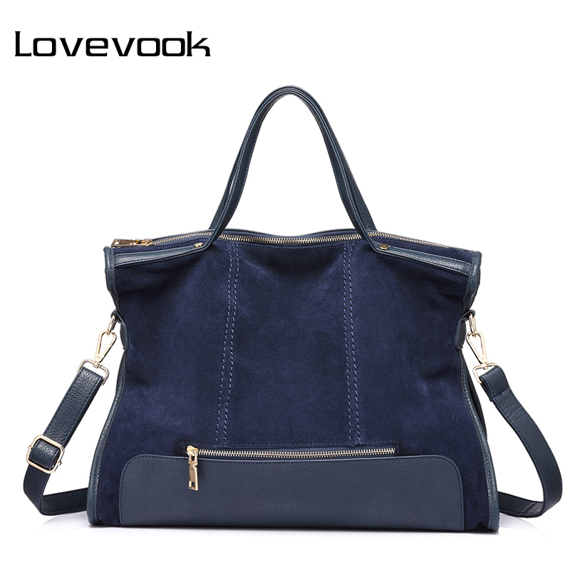 LOVEVOOK women handbag split leather female shoulder crossbody bag ladies messenger bags totes large high quality 2017 elegant spring new elegant leather women handbag smooth skin lady shoulder bags female small casual totes cover zipper crossbody packs