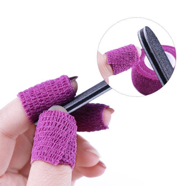 1 Roll Nail Remove Bandage Adhesive Nail Roll Tape for Nail Art Gel Polish Remover Random Colors Skin Care Protect Nail Art Tool