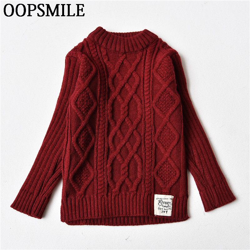 2018 Autumn/Winter Knitted Sweaters Pullovers Warm Sweater Baby Girls Clothes Children Sweaters Kids Boys Outerwear Coats