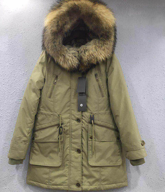 2016 winter woman pure color long goose down straight coat coat