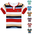 High Quality Breathable Boys Summer Stripe T Shirt Tops Tee Children Clothing Kids  Clothes Short Sleeve Cotton  Girls T-Shirts