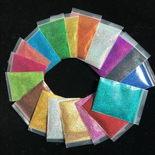 0.2mm Holographic Laser Nail Glitter Powder(1/128 .008)Extra-fine Shinning Dust Powder 18Color 10g/bag