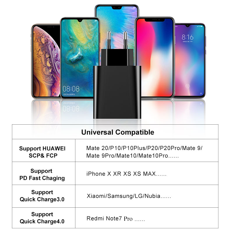 Image 5 - Baseus Quick Charge 4.0 3.0 USB Charger For Redmi Note 7 Pro 30W PD Supercharge Fast Phone Charger For Huawei P30 iPhone 11 Pro-in Mobile Phone Chargers from Cellphones & Telecommunications