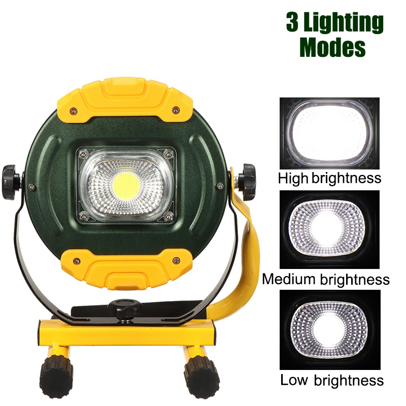 USB COB LED Floodlight 30W Rechargeable LED Flood Spot Light Portable Outdoor Camping Lights Emergency Lamp portable cob led work light waterproof outdoor usb rechargeable lamp searchlight vehicle maintenance emergency camping lamp