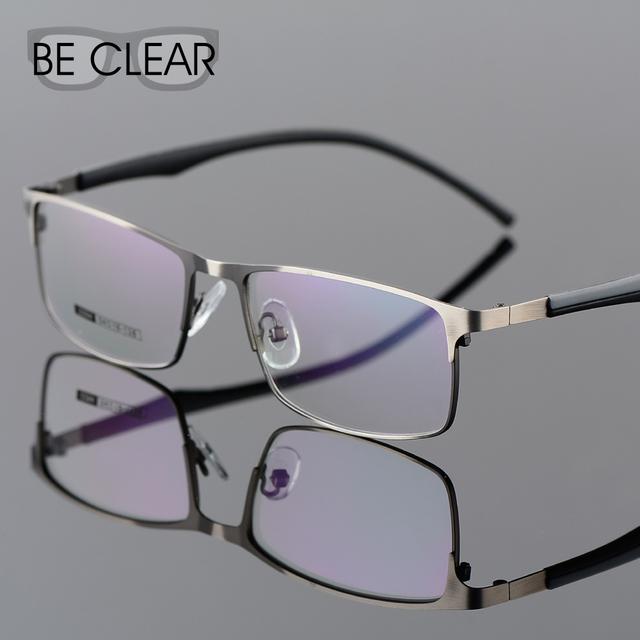 Ser Claro Metel Óculos de Armação Integrais Óptica Óculos Homens Prescrição Óculos De Armação de Ouro para Os Homens Miopia Templo Silício 2294