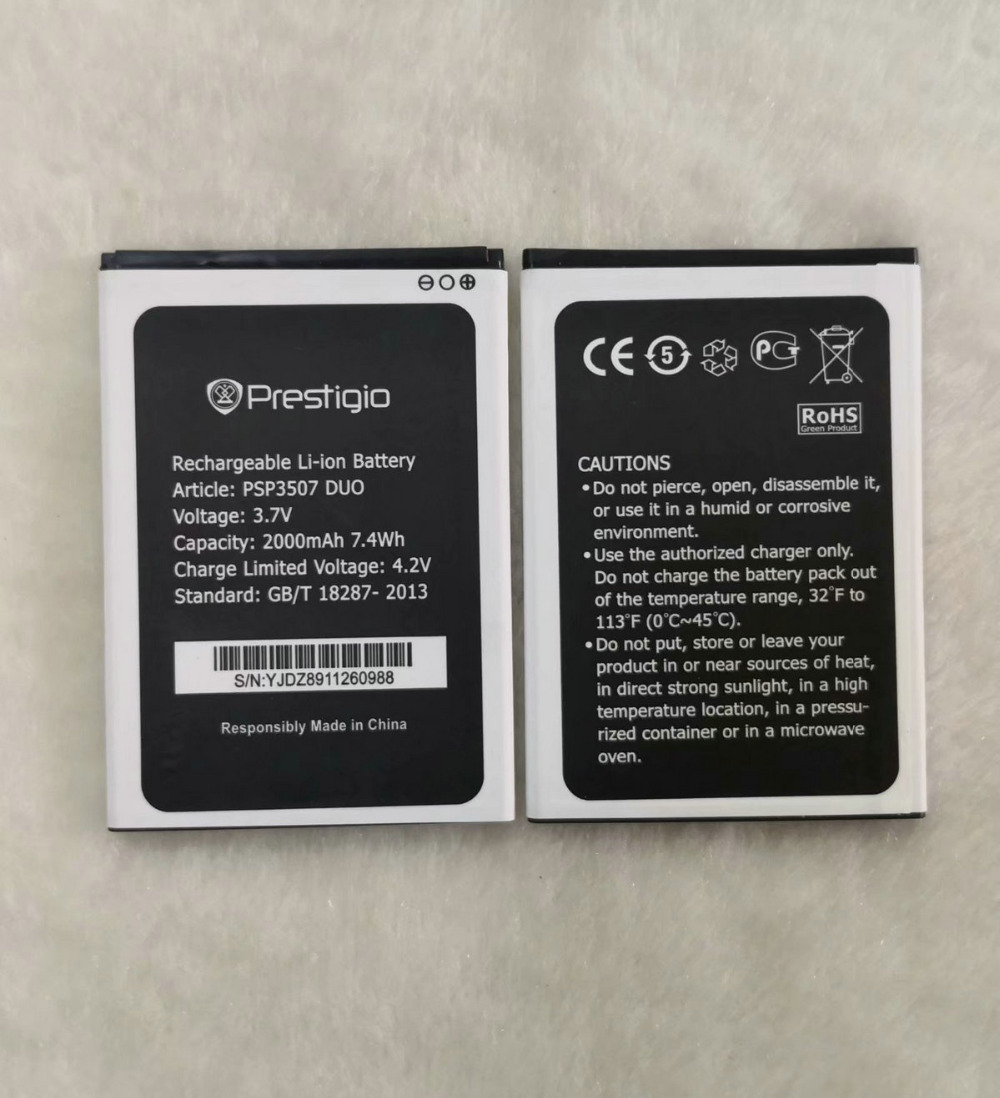 2019 New 2000mAh PSP3507 PSP3527 <font><b>battery</b></font> For Prestigio Wize N3 PSP3507DUO PSP 3507 PSP3527DUO PSP5502 Muze <font><b>A5</b></font> phone image