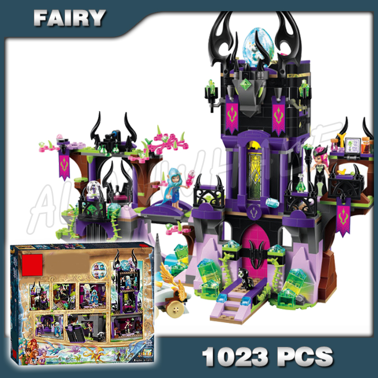 1023pcs Elf Ragana's Magic Shadow <font><b>Castle</b></font> 10551 Building Kit 3D Model Blocks Children Evil Fairy Toys Bricks Compatible with <font><b>Lego</b></font> image