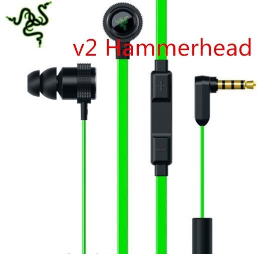 2016 Последним Hammerhead Pro V2 Наушников 3.5 мм В Ухе Игровой гарнитура с Высоким Quanity Глубокий Бас Hifi С Микрофоном для Razer iphone