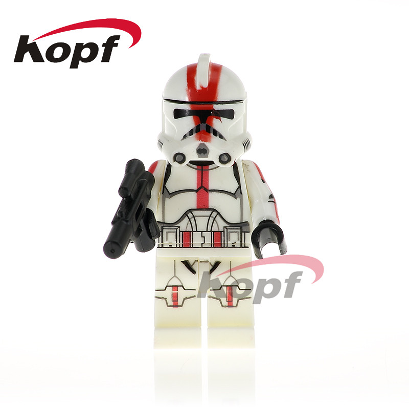 Single Sale Star Wars Imperial Army Military Stormtrooper Clone Trooper Bricks Action Building Blocks Children Toys Gift PG771