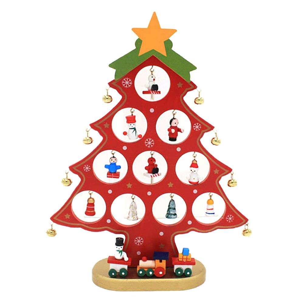25,5 * 20 * 0,8 cm: n DIY söpö sarjakuvapuinen joulukuusi-koriste - Uudet kohteet ja gag-leluja - Valokuva 4