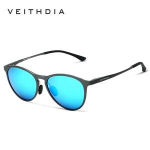 Image 3 - VEITHDIA Sun Glasses Retro Aluminum Magnesium Sunglasses Polarized Lens Vintage Eyewear Accessories Sun Glasses Men/Women 6625