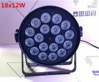 Aluminum Shell 2pcs Lot 18x12W RGBW Led Par Light DMX Stage Lights Business Lights Professional Flat