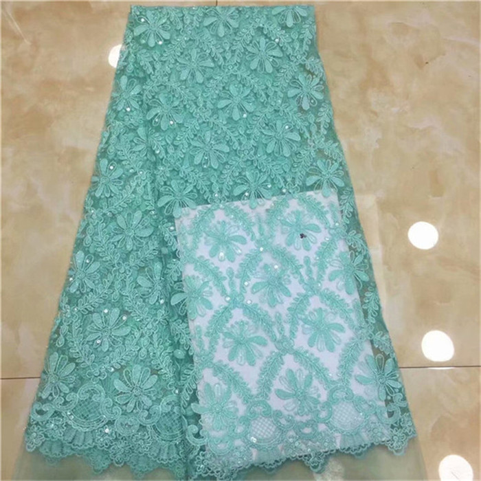 tulle with sequins 5yard lot 2019 sequins latest blue sequin fabric for sewing dress high quality