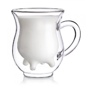 new arrival high temperature heat resistant glass milk cup 250ml 2pcs/lot free shipping,hot selling