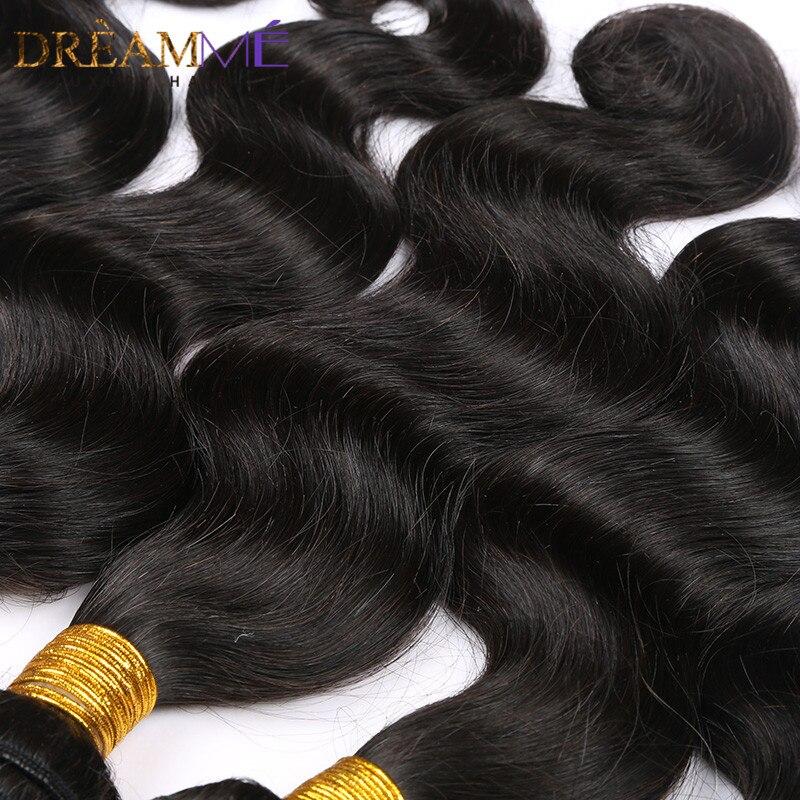 Image 5 - Бразильские волнистые человеческие волосы для наращивания 100% remy волосы переплетения пучки натуральный черный цвет Dreaming Queen Hair продукты-in 3/4 пучка from Пряди и парики для волос on AliExpress