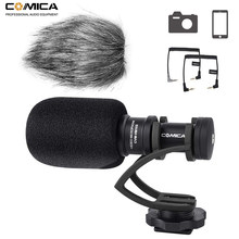 Comica CVM-VM10II mini microfone de vídeo entrevista direcional, microfone de gravação para câmera canon nikon dslr para iphone e smartphones