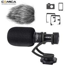 Comica CVM VM10II mini microfone de vídeo entrevista direcional, microfone de gravação para câmera canon nikon dslr para iphone e smartphones