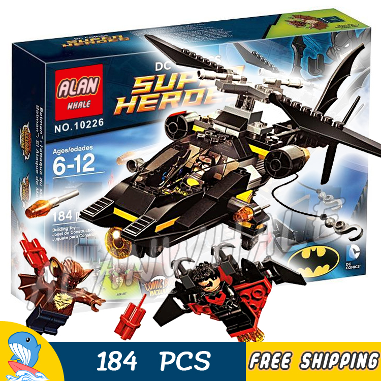 184pcs Super Heroes Batman Movie Man-Bat Attack Batcopter Helicopter 10226 Model Building Blocks Toy Bricks Compatible With Lego
