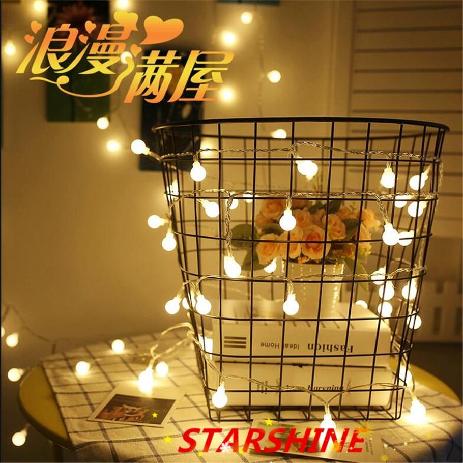 Hot selling 220V 5M 28 LED Cherry Ball bulb string lights Garland LED Christmas decorations Festival outdoor Wedding Garland Hom