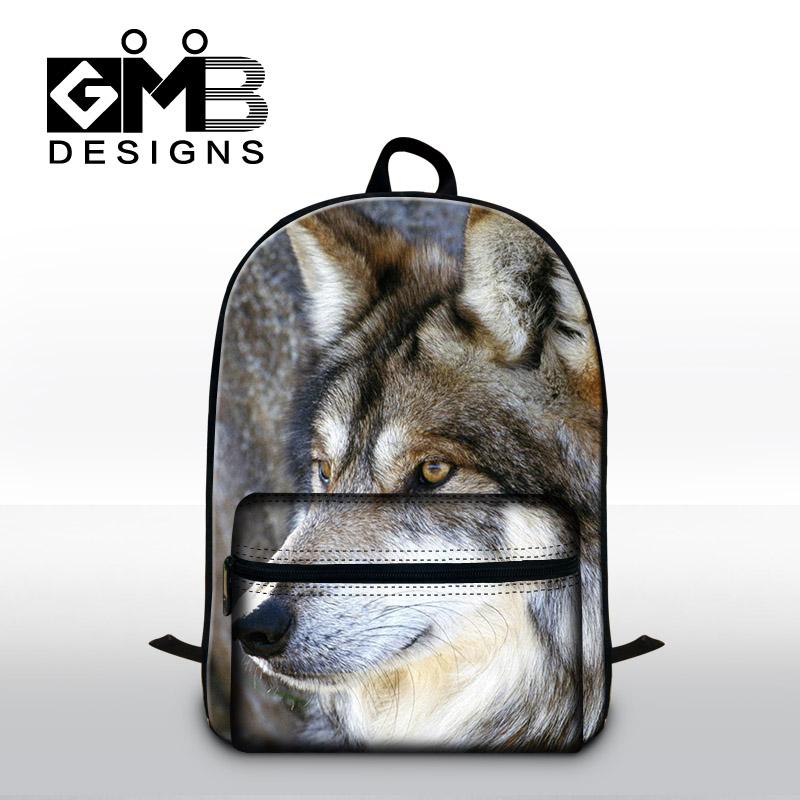 Wolf 3D print backpacks for college,cool back pack for laptop,fashion school bags for high class students,stylish canvas bookbag