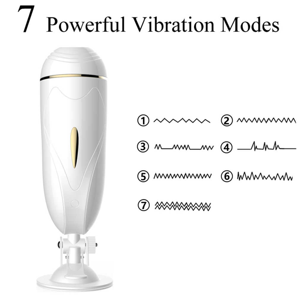 FOX Vagina Real Pussy Masturbator Sex Toys For Men Sex Machine Piston Retractable Male Masturbator Vibrator Man Masturbation Cup
