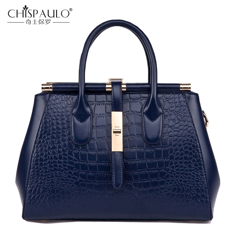 2018 High Quality Embossed Genuine Leather Women Shoulder Bags Famous Brand Luxury Handbags Women Bags Designer Ladies Bag sac chispaulo women genuine leather handbags cowhide patent famous brands designer handbags high quality tote bag bolsa tassel c165