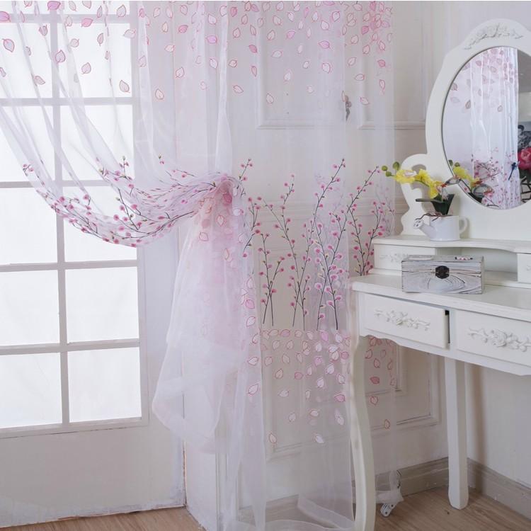 envios gratis rstico diseo floral escarpada cortina de tul de tela en casachina